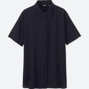 Uniqlo | Women's rayon short sleeve blouse